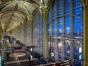 National Airport Terminal C Interior, twilight