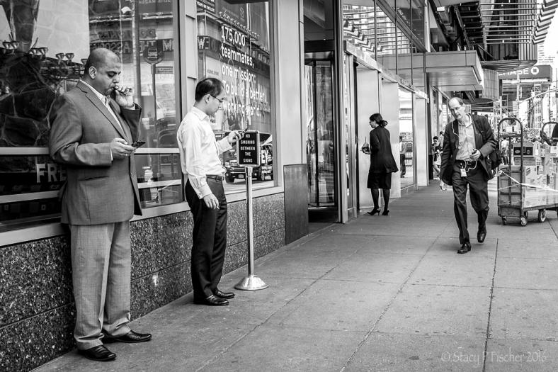 Coffee, cigarettes, iPhones on urban street