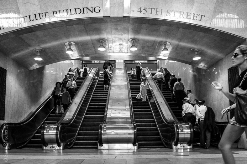 Grand Central Station escalators 54th Street