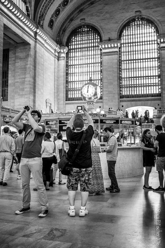 Photographers in Grand Central Station