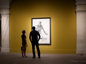 Visitors to National Portrait Gallery view exhibit