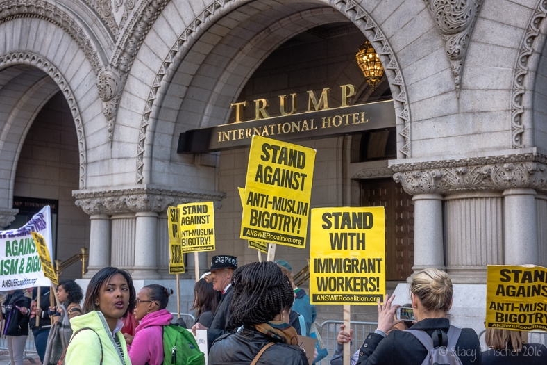 Trump International Hotel Washington DC protest